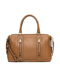 Julia Large Leather Satchel - ACORN - 30S6GJQS3L