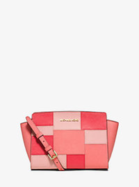 Selma Medium Leather Patchwork Crossbody - PINK GRAPEFRUIT - 30S6GLMM2U