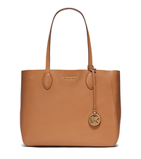 Mae Large Leather Tote - ACORN/PLGOLD - 30S6GM5T3M