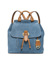 Romy Medium Suede Backpack - INDIGO - 30S6GRUB2S