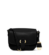 Romy Medium Leather Crossbody - BLACK - 30S6GRUM2L