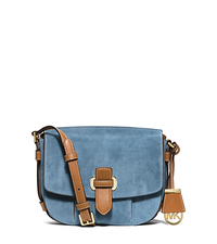 Romy Medium Suede Crossbody - INDIGO - 30S6GRUM2S