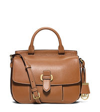 Romy Large Leather Messenger - ACORN - 30S6GRUM3L