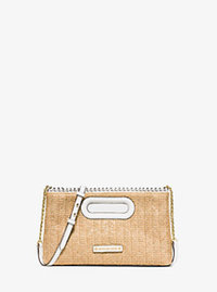 Rosalie Large Raffia Clutch - OPTIC WHITE - 30S6GS4C7W