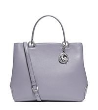 Anabelle Large Top-Zip Leather Tote - LILAC - 30S6SAPT3L