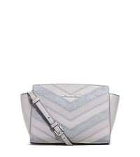 Selma Medium Leather Chevron Crossbody - DOVE - 30S6SLMM8E