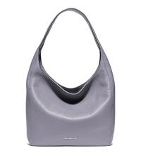 Lena Large Leather Shoulder Bag - LILAC - 30S6SL1L7L