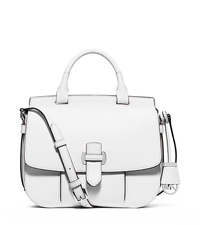 Romy Large Leather Crossbody - OPTIC WHITE - 30S6SRUM3L