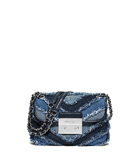 Sloan Small Quilted-Denim Shoulder Bag - MULTI BLUE - 30S6SSLL5C