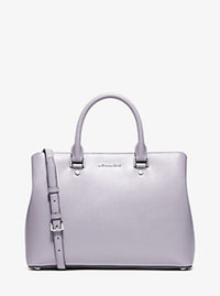 Savannah Large Patent-Leather Satchel - LILAC - 30S6SS7S3A