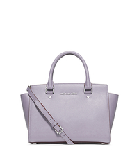 Selma Medium Saffiano Leather Satchel - LILAC - 30T3SLMS2L
