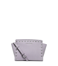 Selma Medium Studded Leather Messenger - LILAC - 30T3SSMM2L
