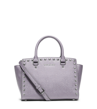Selma Studded Saffiano Leather Satchel - LILAC - 30T3SSMS2L