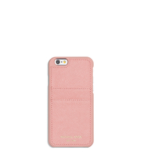 Saffiano Leather Smartphone Case - PALE PINK - 32S6GELL3L