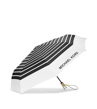 Striped Nylon Umbrella - WHITE/BLACK - 32S6GNYN4U