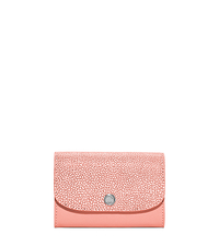 Juliana Medium Saffiano Leather Wallet - PALE PINK - 32S6SJRE6N