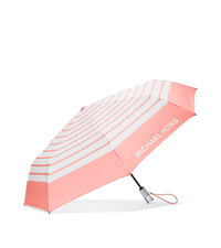 Striped Nylon Umbrella - PALE PINK/WHITE - 32S6SNYN4U