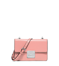 Sloan Small Calf Leather Crossbody - PALE PINK - 32S6SSLC4L