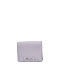 Jet Set Travel Saffiano Leather Card Holder - LILAC - 32T4STVF2L