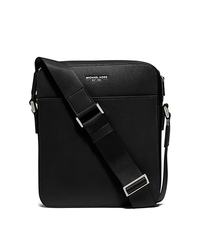 Harrison Medium Leather Flight Bag - BLACK - 33S6LHRC6L