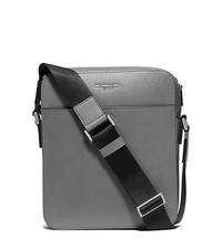Harrison Medium Leather Flight Bag - GREY - 33S6LHRC6L