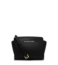 Selma Mini Saffiano Leather Crossbody - BLACK - 32H3GLMC1L