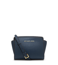 Selma Mini Saffiano Leather Crossbody - NAVY - 32H3GLMC1L