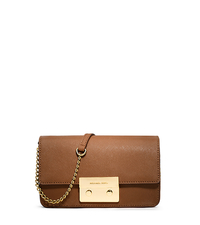 Sloan Saffiano Leather Crossbody - LUGGAGE - 32H3GSLC6L