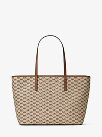 Emry Large Logo Tote - Natural/Luggage - 30F6AE4T7V
