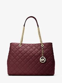 Susannah Large Quilted-Leather Tote - MERLOT - 30H6GAHT3L