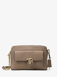 Emma Medium Leather Messenger - DARK DUNE - 30H6GENM2L