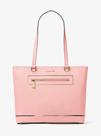 Jet Set Large Leather Tote - BLOSSOM - 30H6GFJT3M