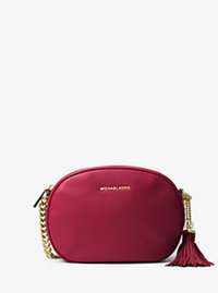 Ginny Medium Leather Crossbody - CHERRY - 30H6GGNM2L