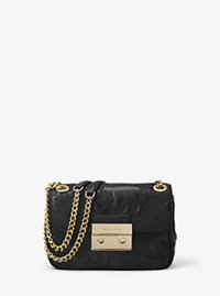 Sloan Small Leather Shoulder Bag - BLACK - 30H6GL8L1T