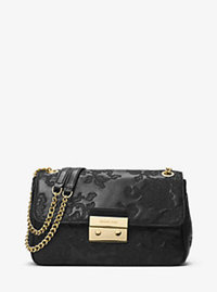 Sloan Large Leather Shoulder Bag - BLACK - 30H6GL8L3T