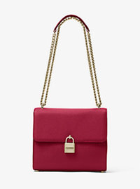 Mercer Large Leather Messenger - CHERRY - 30H6GM9M3L