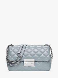 Sloan Large Quilted-Leather Shoulder Bag - DUSTY BLUE - 30H6SSLL3A