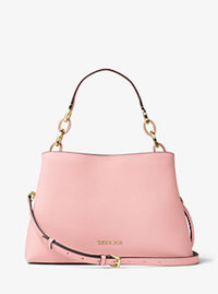 Portia Large Saffiano Leather Shoulder Bag - BLOSSOM - 30T6GPAL3L