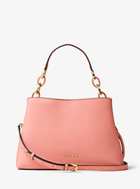 Portia Large Saffiano Leather Shoulder Bag - PALE PINK - 30T6GPAL3L