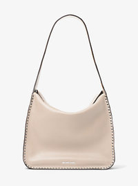 Astor Large Leather Hobo - CEMENT - 30T6SATH3L