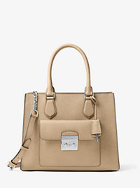 Bridgette Medium Saffiano Leather Tote - BISQUE - 30T6SBDT2L