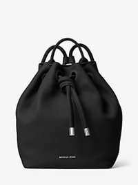Dalia Large Leather Backpack - BLACK - 30T6SDYB3L