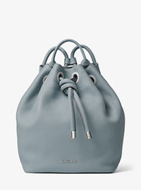 Dalia Large Leather Backpack - CEMENT - 30T6SDYB3L