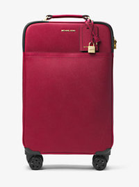 Large Saffiano Leather Suitcase - CHERRY - 30H6GTMT4L