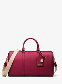 Jet Set Travel Large Leather Weekender - CHERRY - 30H6GTMU4L