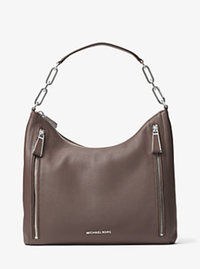 Matilda Large Leather Shoulder Bag - CINDER - 30H6SMTL3L