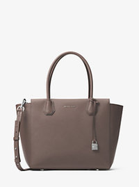 Mercer Large Leather Satchel - CINDER - 30H6SM9S3L