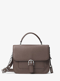 Cooper Large Leather Satchel - CINDER - 30H6SPCS3L