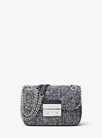 Sloan Small Tweed Shoulder Bag - ADMIRAL - 30H6SSLL1C