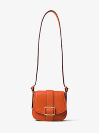 Maxine Medium Leather Saddlebag - ORANGE - 30H6TUZM2L